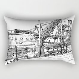 Lower West Side Shore Rectangular Pillow