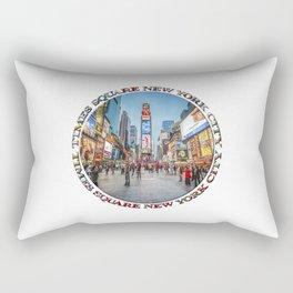 Times Square Sparkle (badge on white) Rectangular Pillow