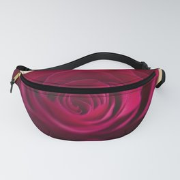 Centre of a red rose Fanny Pack