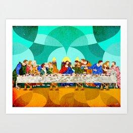 Curves - Last Supper Art Print