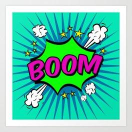 Boom Blue Boom Art Print