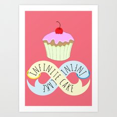 Infinite cake Art Print