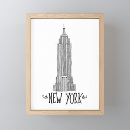 Empire State Building Framed Mini Art Print