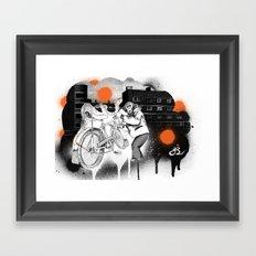 Bo-bo Steals a Ride... Framed Art Print