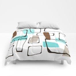 Midcentury Modern Shapes Comforters