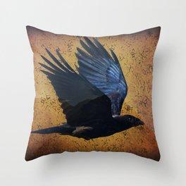 Raven's Mountain Art Print Throw Pillow