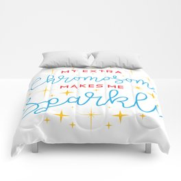 Down Syndrome Awareness Support Trisomy 21 Gift Comforters