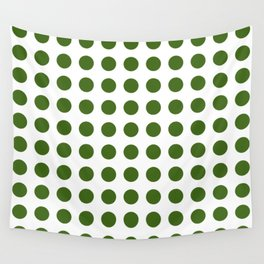 Simply Polka Dots in Jungle Green Wall Tapestry
