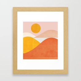Abstraction_Mountains Framed Art Print