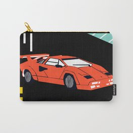Wicked - sports car 80s retro throwback memphis style motorhead Carry-All Pouch