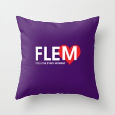 Feel Love Every Moment Throw Pillow