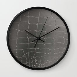 Crocodile silver skin Wall Clock
