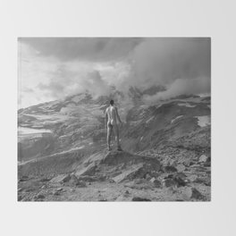 Awesome Nature Nude Hike Throw Blanket