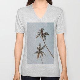 two palm trees Unisex V-Neck