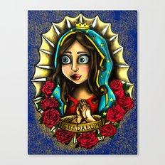 Lady Of Guadalupe (Virgen de Guadalupe) BLUE VERSION Canvas Print
