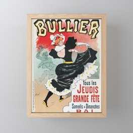 Bullier French dance hall days Framed Mini Art Print
