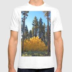 Fall Foliage Mens Fitted Tee White MEDIUM