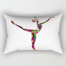 colorful ballerina Rectangular Pillow