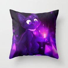 Amethyst Kitty Throw Pillow