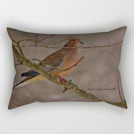 Mourning Dove - New England Blizzard 2015 Rectangular Pillow
