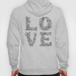 L O V E / grey Hoody