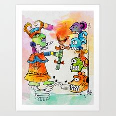 Witchdoctor, inspired by Frida Kahlo Art Print