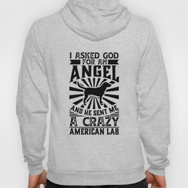 Asked God for Angel He sent Me A Crazy American Lab Shirt Hoody
