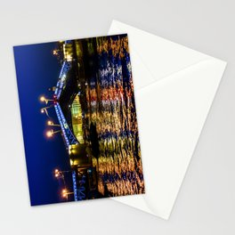 Raising bridges in St. Petersburg Stationery Cards