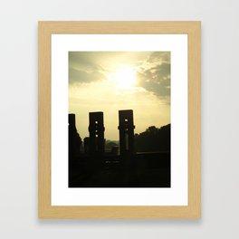 Sunset Memorial Framed Art Print