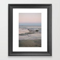 Dusk over the ocean Framed Art Print