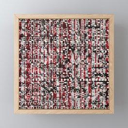 Linear Thinking Trip Switch (P/D3 Glitch Collage Studies) Framed Mini Art Print