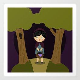 Little Aubergine Riding Hood Art Print