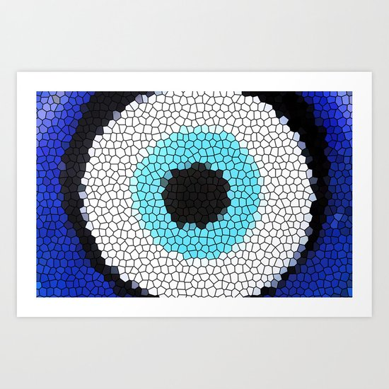 Blue eye Luck Art Print