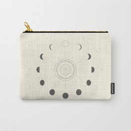 Moon Phases Light Carry-All Pouch