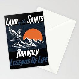 Land of the saints Norwalk Legends of life mask Eagles Stationery Cards
