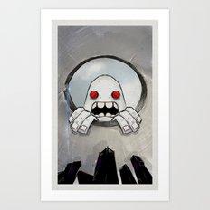 Scream (Looking in) Art Print