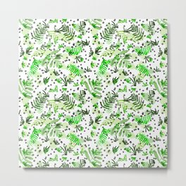 Green Fern Metal Print