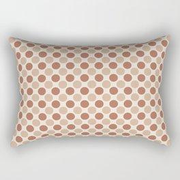 Cavern Clay SW 7701 and Ligonier Tan SW 7717 Uniform Large Polka Dot Pattern 1 on Creamy Off White Rectangular Pillow