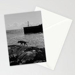 Dog On Lighthouse Point Stationery Cards