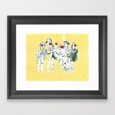 Apple eaters Framed Art Print
