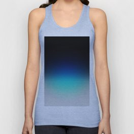 Blue Gray Black Ombre Unisex Tank Top