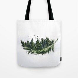 Earth Feather • Green Feather (horizontal) Tote Bag