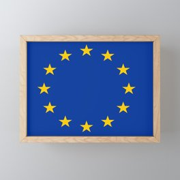 Flag of Europe 2 Framed Mini Art Print