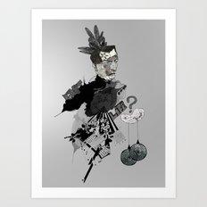 My interrogation? Art Print