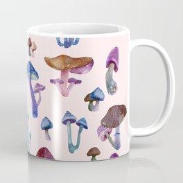 Mushrooms on Pink Coffee Mug