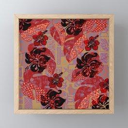 On Fire Kona Tropical Floral Framed Mini Art Print