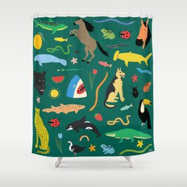 Lawn Party Shower Curtain