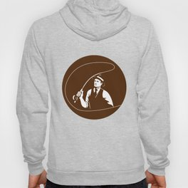 Mobster Gangster Fly Fisherman Circle Retro Hoody
