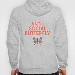 Cute Relatable Anti-Social Butterfly T-Shirt Hoody