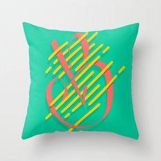 Tropical B Throw Pillow